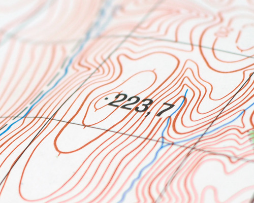 Topo surveying map in NJ